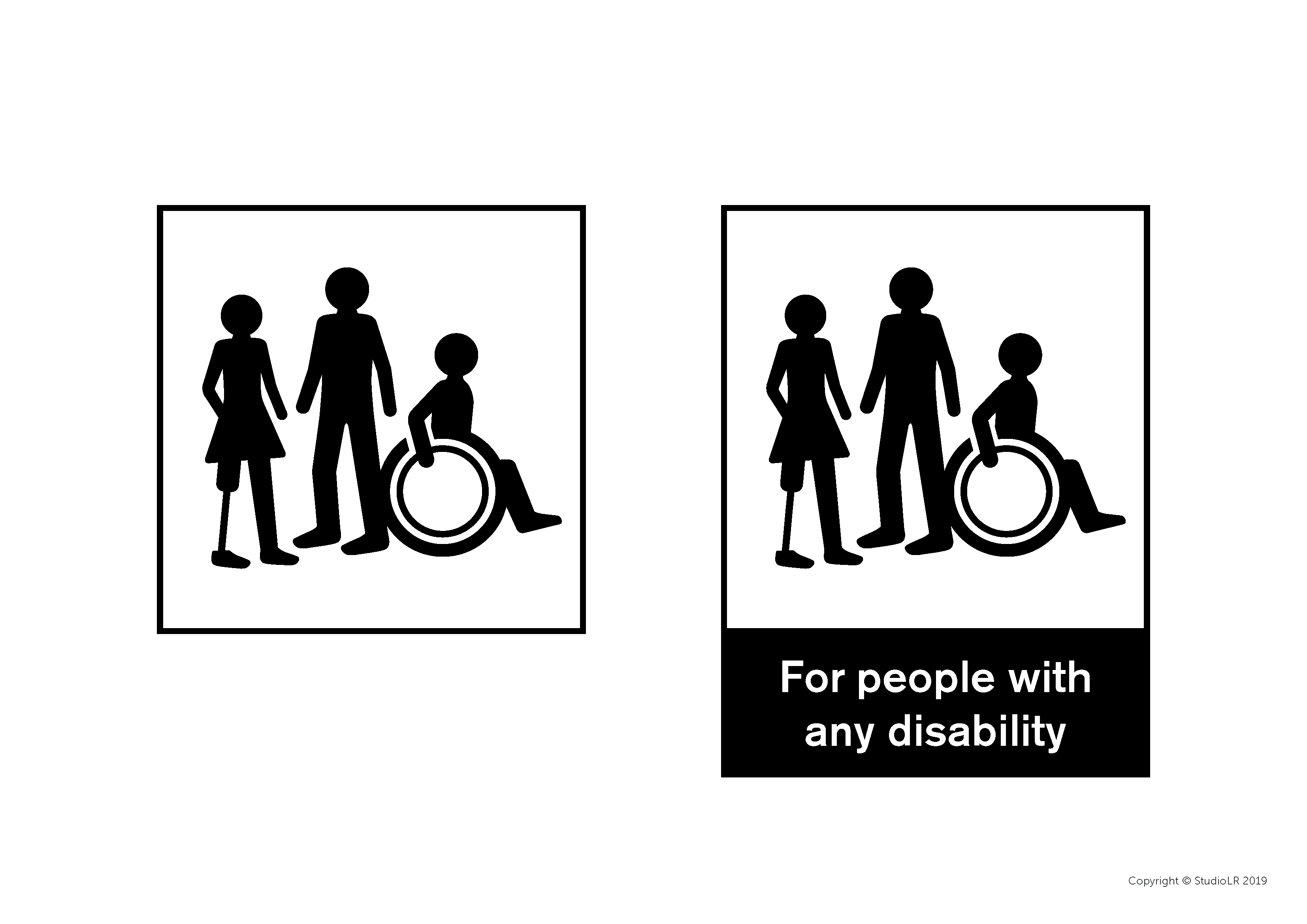 StudioLR any disability symbol, copyright StudioLR 2019